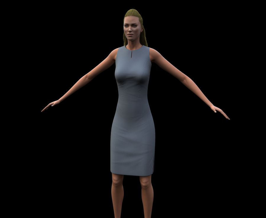 Seksi kadın modeli royalty-free 3d model - Preview no. 23