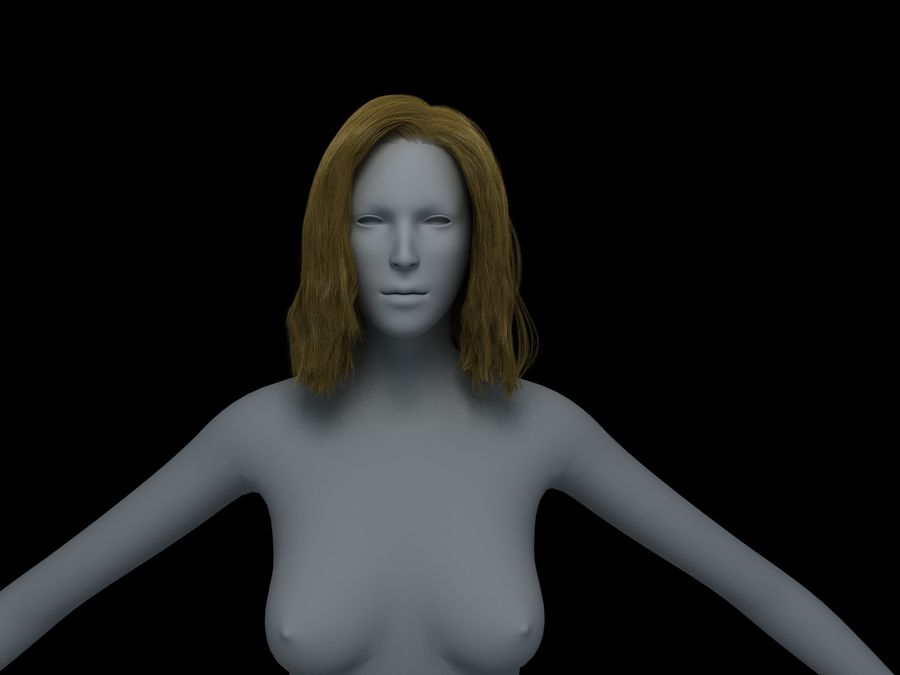 Seksi kadın modeli royalty-free 3d model - Preview no. 34