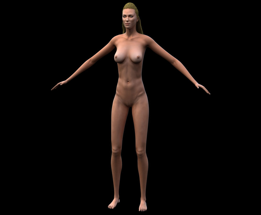 Seksi kadın modeli royalty-free 3d model - Preview no. 12