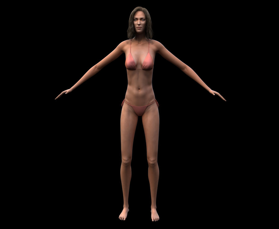 Seksi kadın modeli royalty-free 3d model - Preview no. 15