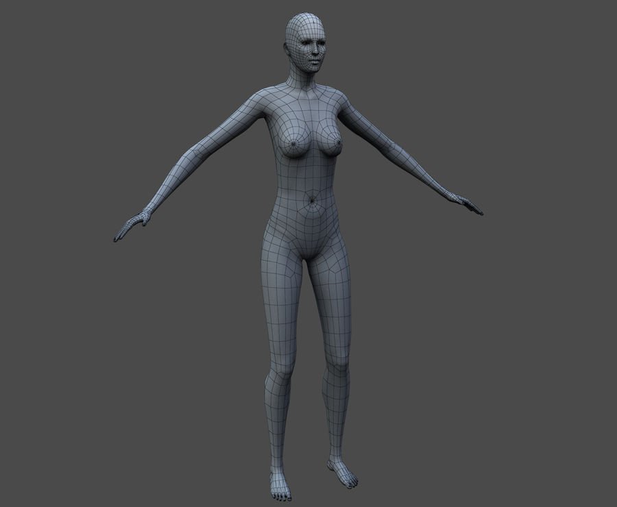 Seksi kadın modeli royalty-free 3d model - Preview no. 40