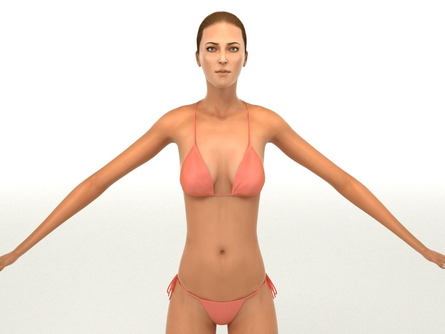 Seksi kadın modeli royalty-free 3d model - Preview no. 21