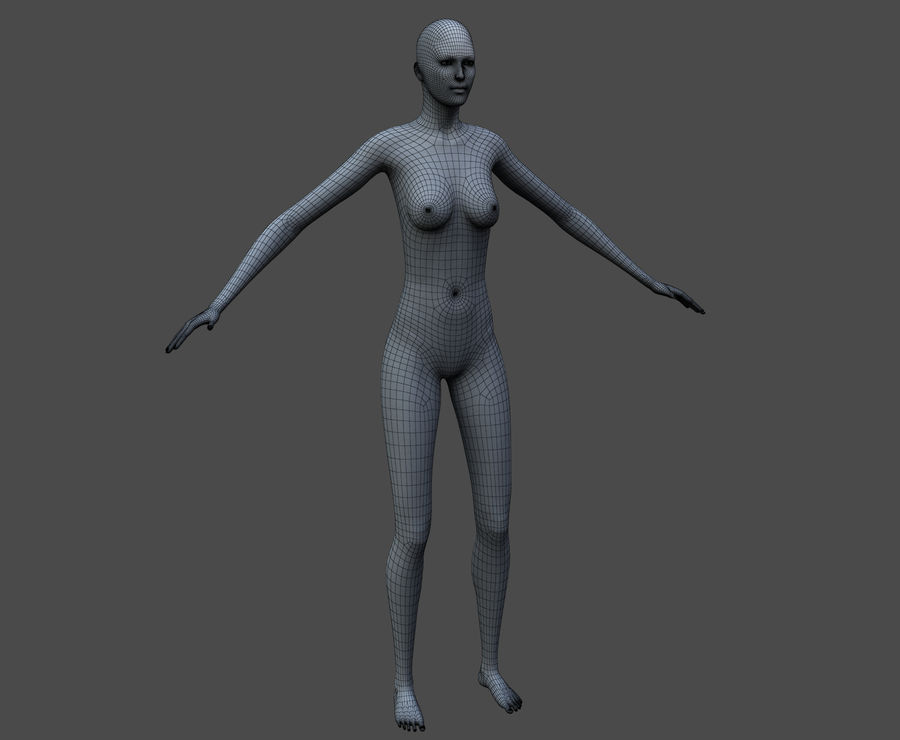 Seksi kadın modeli royalty-free 3d model - Preview no. 39