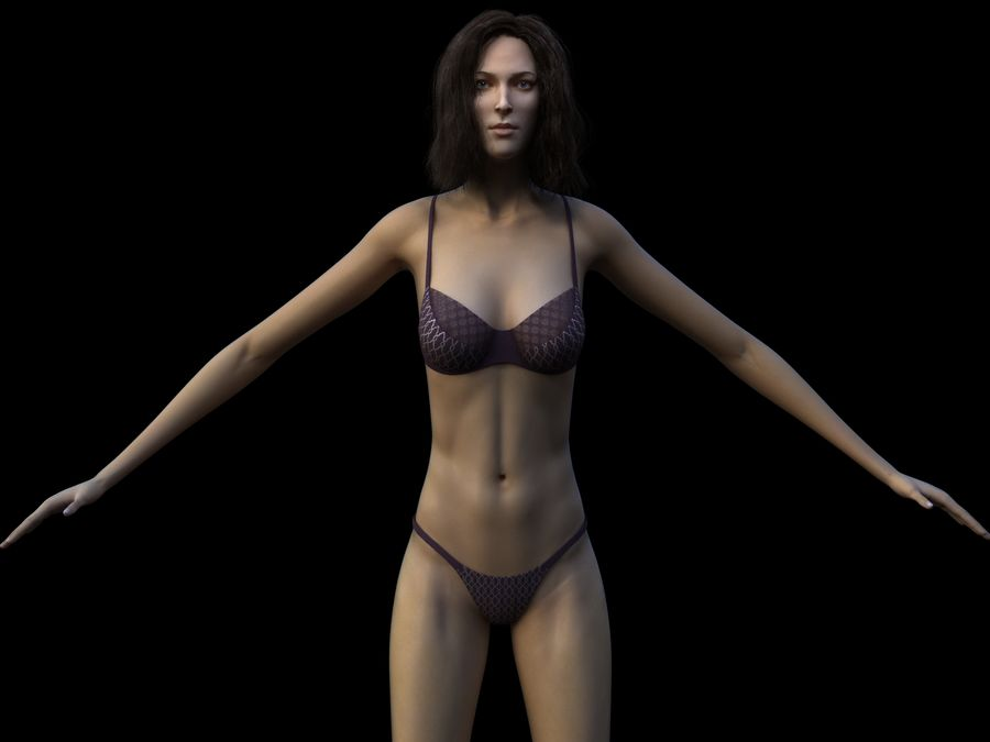 Seksi kadın modeli royalty-free 3d model - Preview no. 3