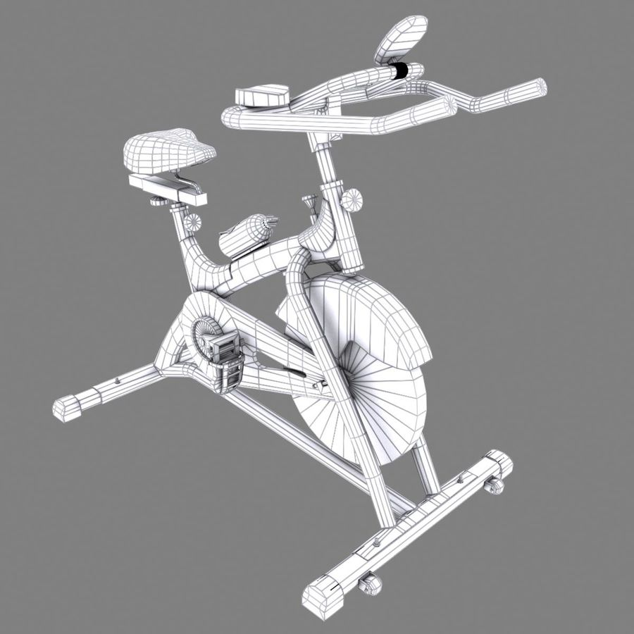Exercise bike royalty-free 3d model - Preview no. 17