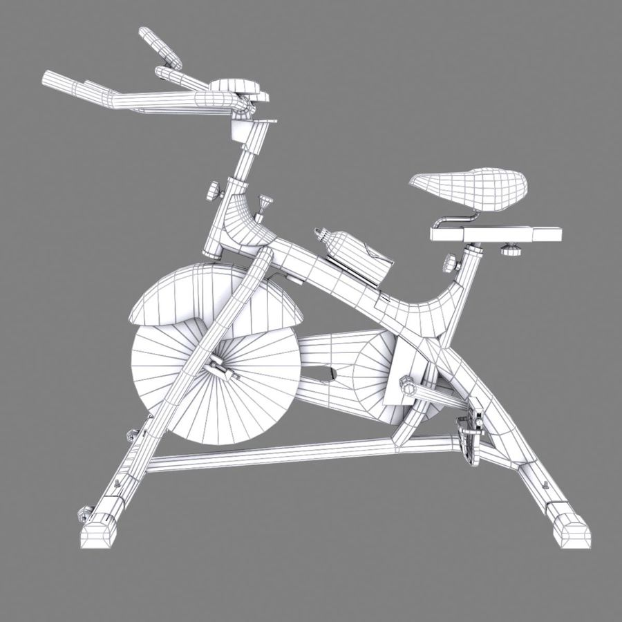 Exercise bike royalty-free 3d model - Preview no. 18