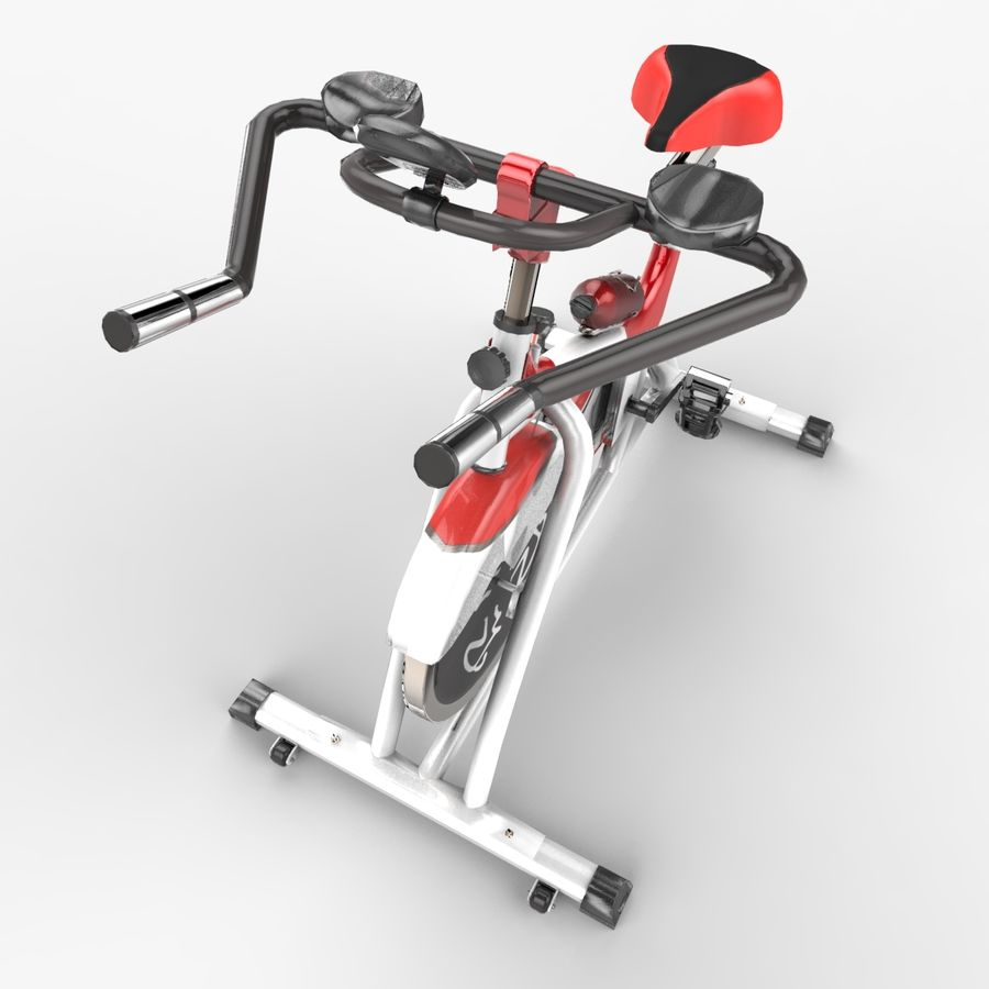 Exercise bike royalty-free 3d model - Preview no. 11