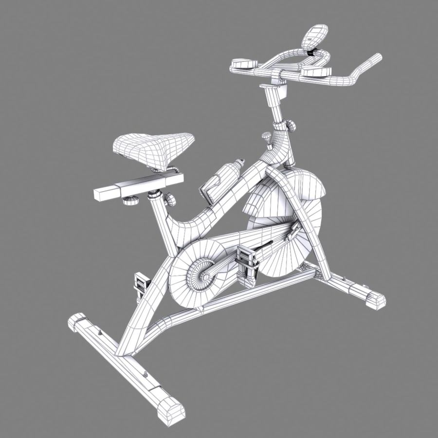 Exercise bike royalty-free 3d model - Preview no. 16