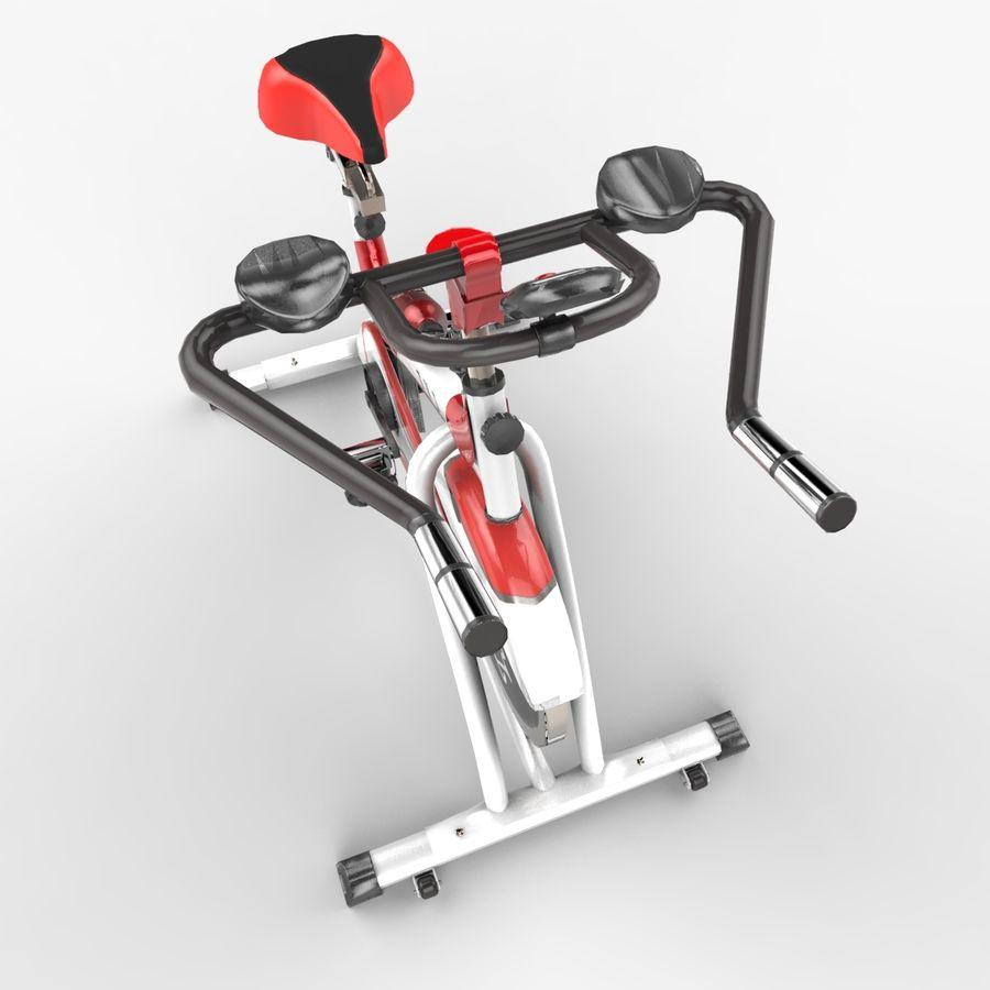 Exercise bike royalty-free 3d model - Preview no. 12
