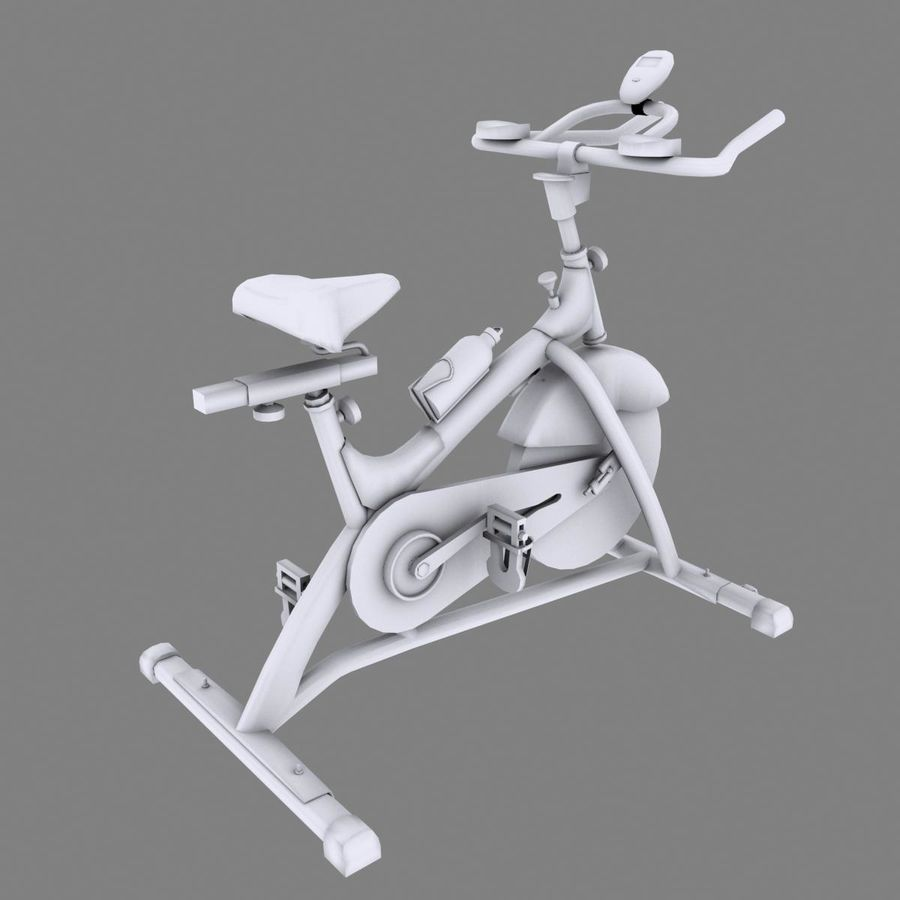 Exercise bike royalty-free 3d model - Preview no. 13