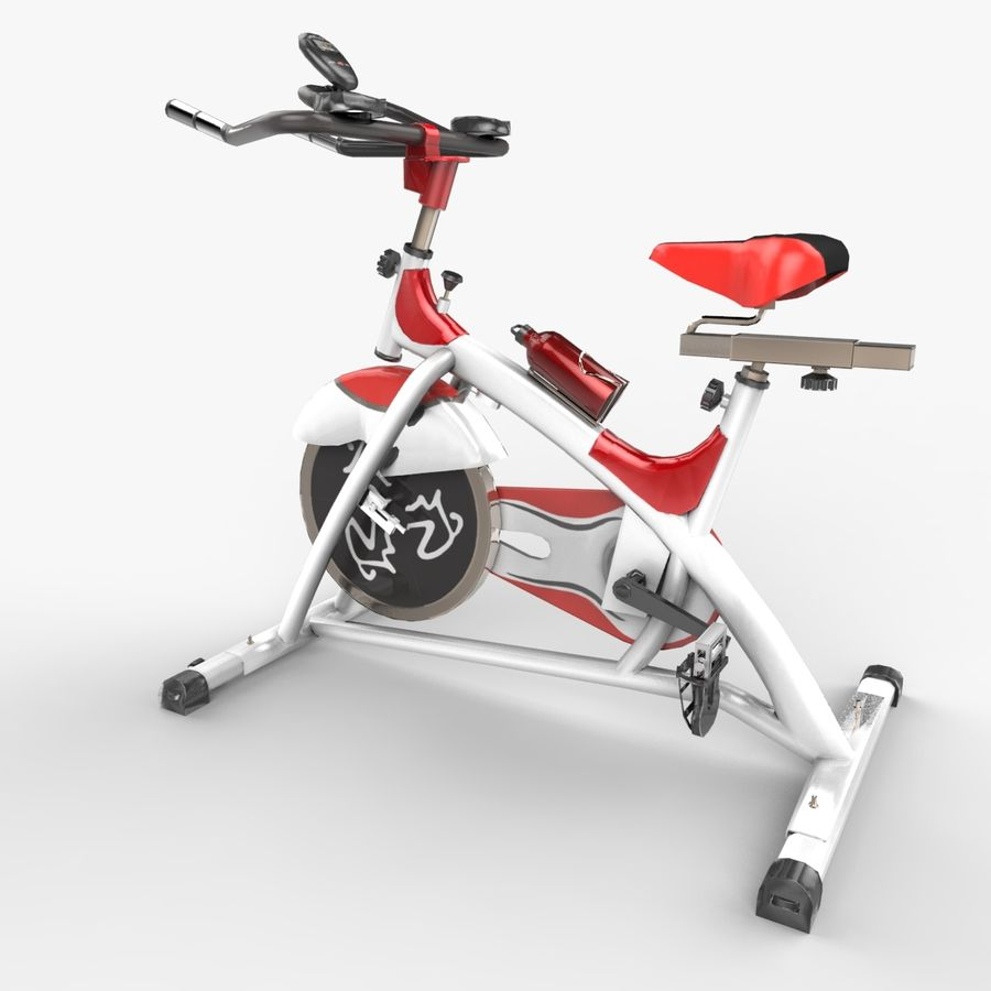 Exercise bike royalty-free 3d model - Preview no. 7
