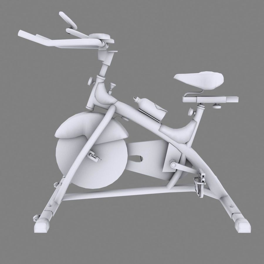 Exercise bike royalty-free 3d model - Preview no. 15