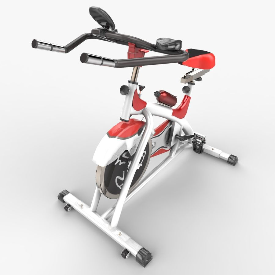 Exercise bike royalty-free 3d model - Preview no. 10