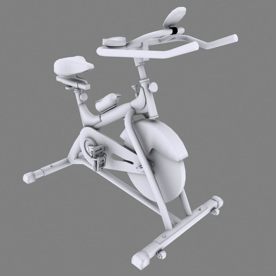 Exercise bike royalty-free 3d model - Preview no. 14