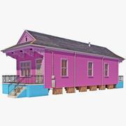 Shotgun House 3d model