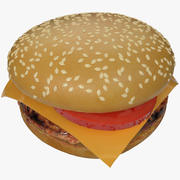 hamburger al formaggio 3d model
