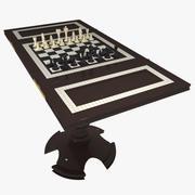 Gambling Table Chess 3d model