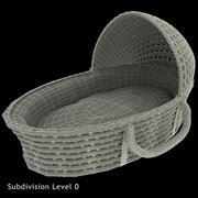 Dassenmand Hooded Moses Basket 3d model