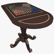 Gambling Table Halma 3d model