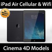 iPad Hava Hücresel ve Wifi C4D 3d model