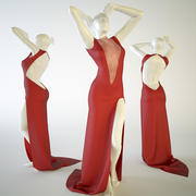 röd klänning 3d model