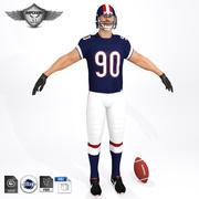 Football Player V2 3d model