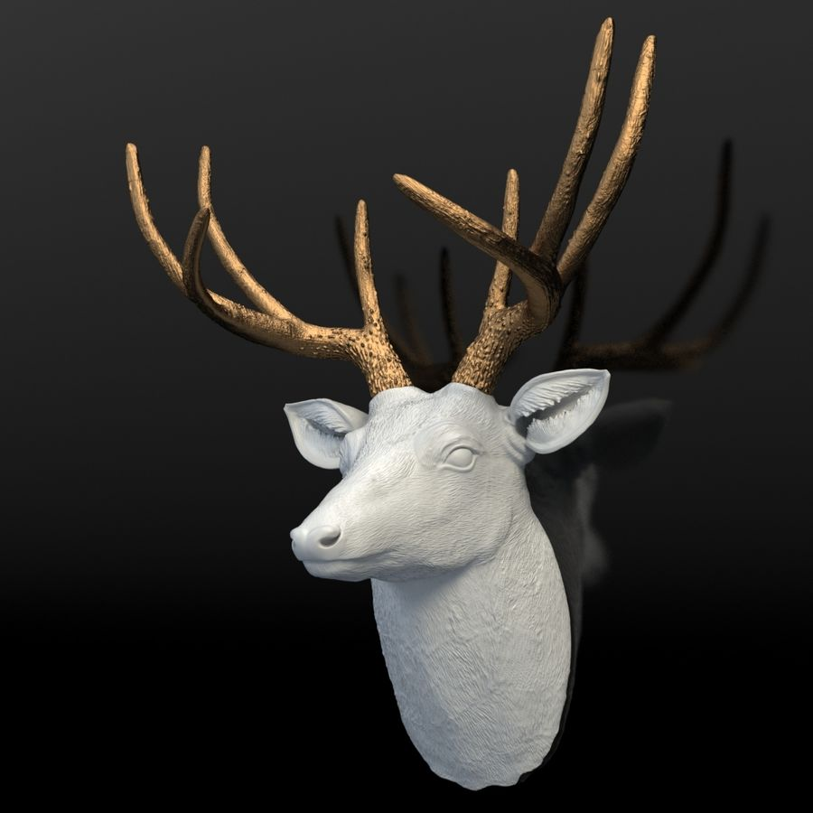 Fausse taxidermie - Cerf royalty-free 3d model - Preview no. 7