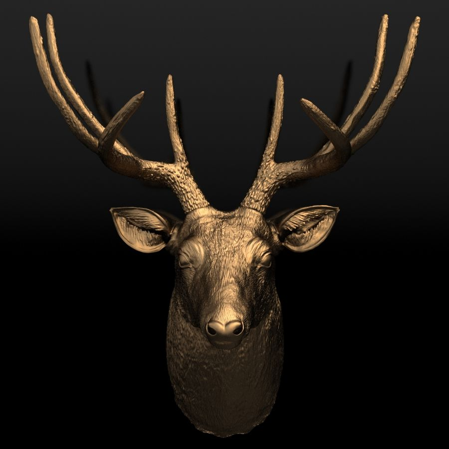 Fausse taxidermie - Cerf royalty-free 3d model - Preview no. 5
