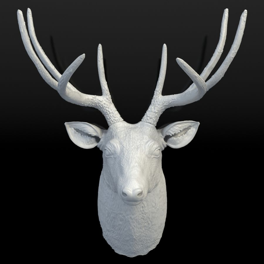 Fausse taxidermie - Cerf royalty-free 3d model - Preview no. 3