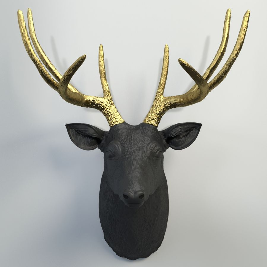 Fausse taxidermie - Cerf royalty-free 3d model - Preview no. 6