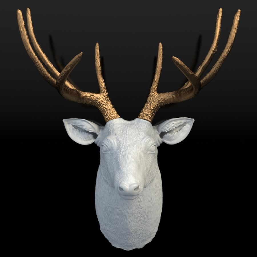 Fausse taxidermie - Cerf royalty-free 3d model - Preview no. 2