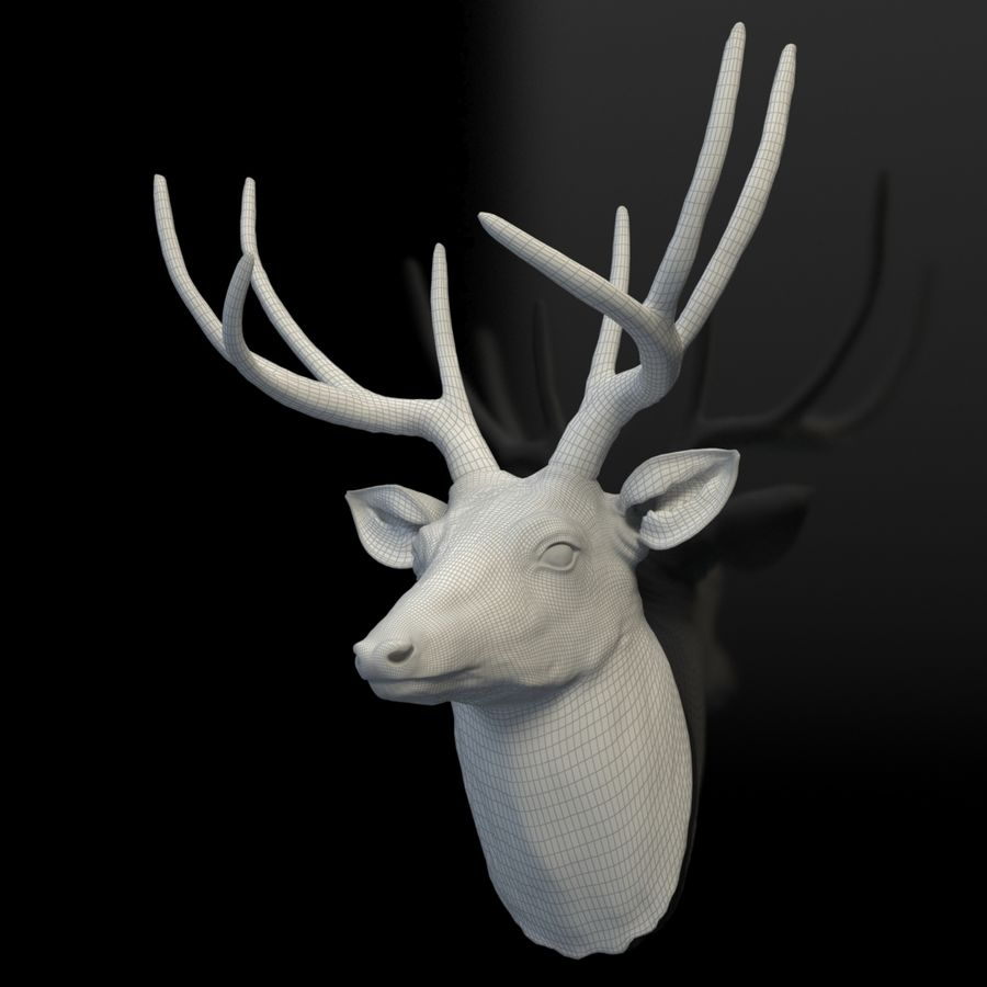 Fausse taxidermie - Cerf royalty-free 3d model - Preview no. 8