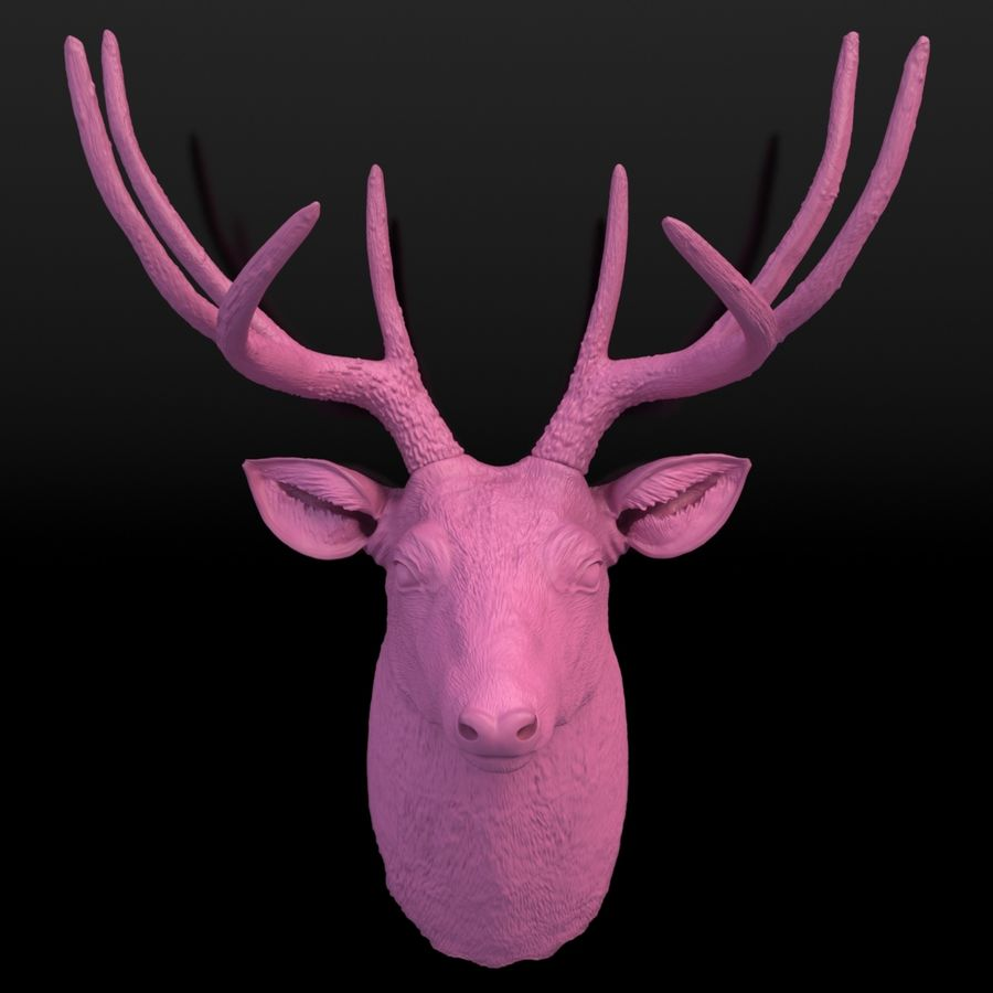 Fausse taxidermie - Cerf royalty-free 3d model - Preview no. 4