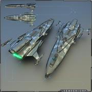 Korweta 3d model