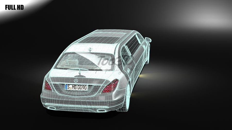 S_klass_limo royalty-free 3d model - Preview no. 7