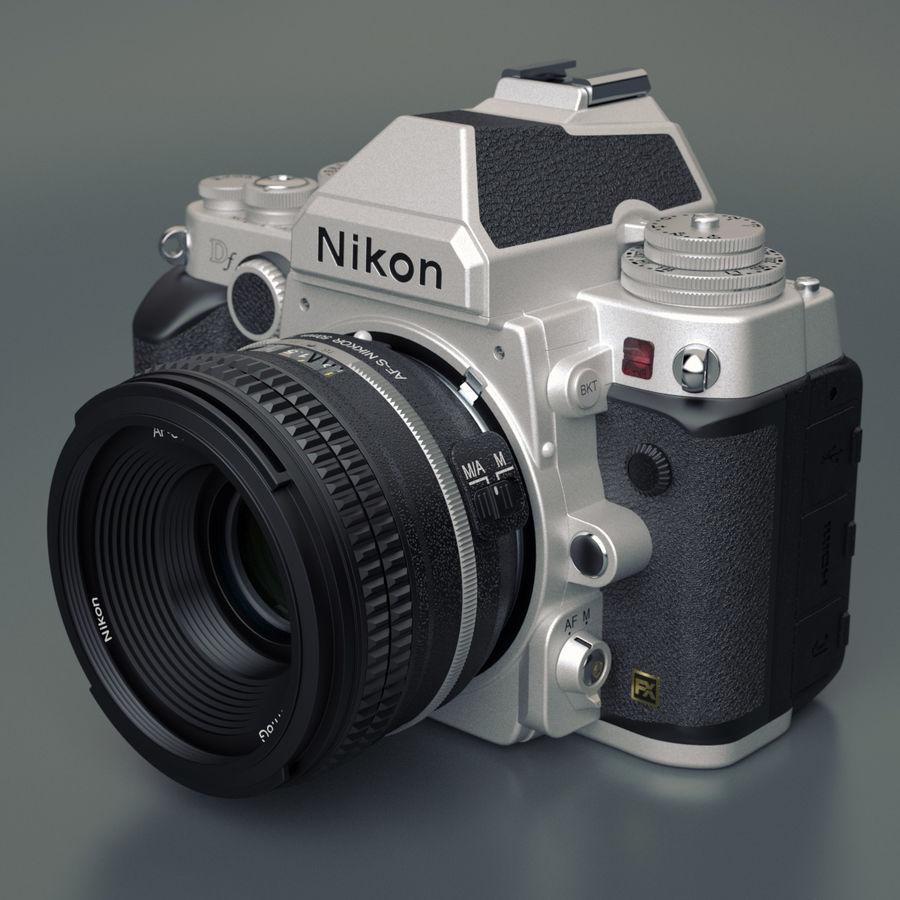 Nikon DF DSLR royalty-free 3d model - Preview no. 2