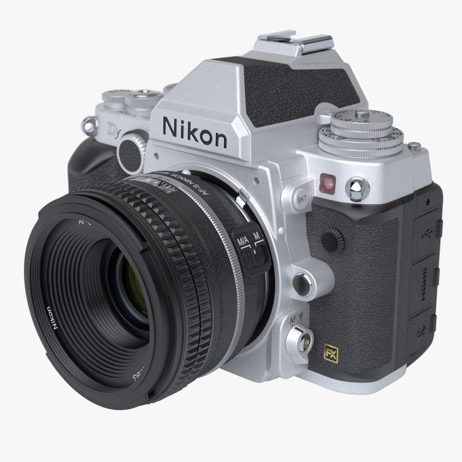 Nikon DF DSLR royalty-free 3d model - Preview no. 1