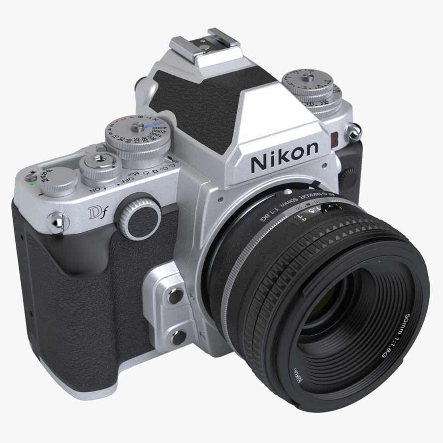 Nikon DF DSLR royalty-free 3d model - Preview no. 3