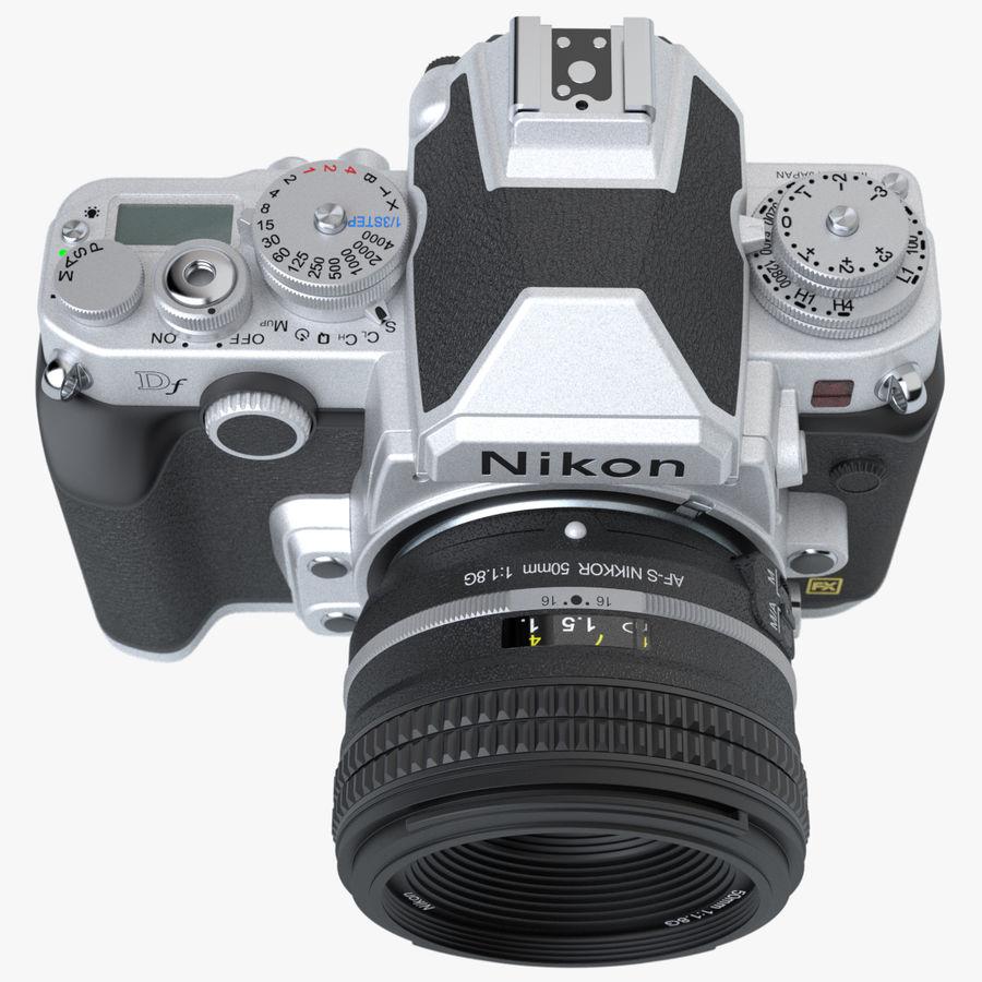 Nikon DF DSLR royalty-free 3d model - Preview no. 7