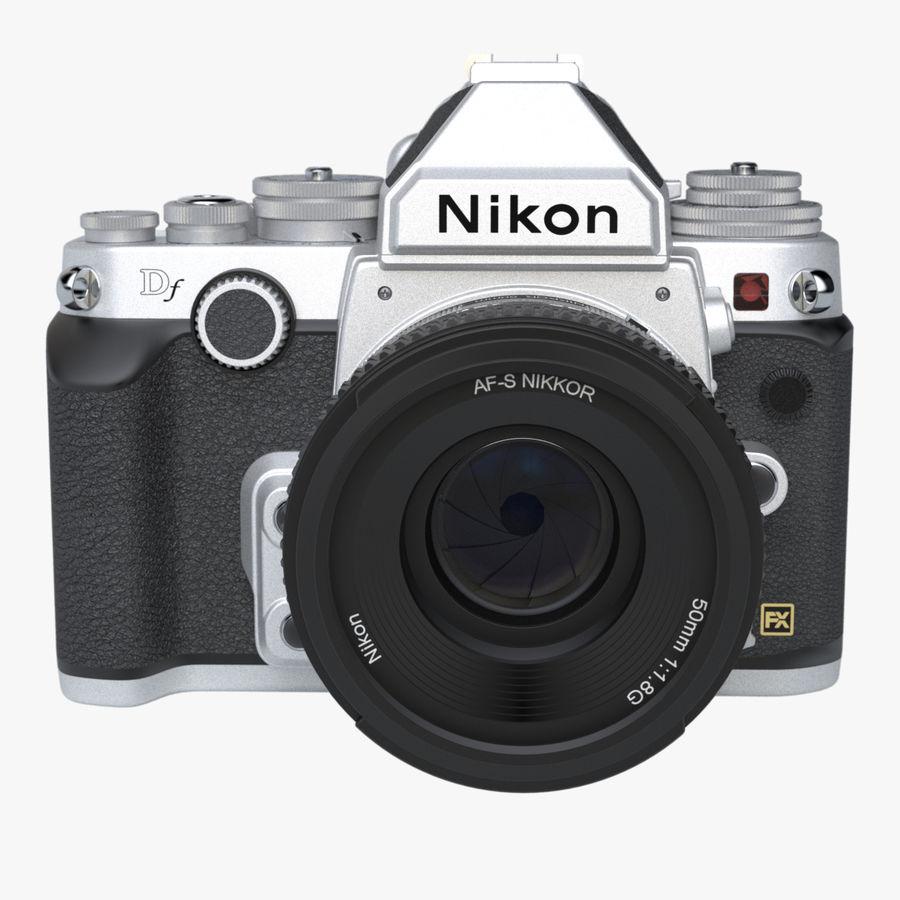 Nikon DF DSLR royalty-free 3d model - Preview no. 8