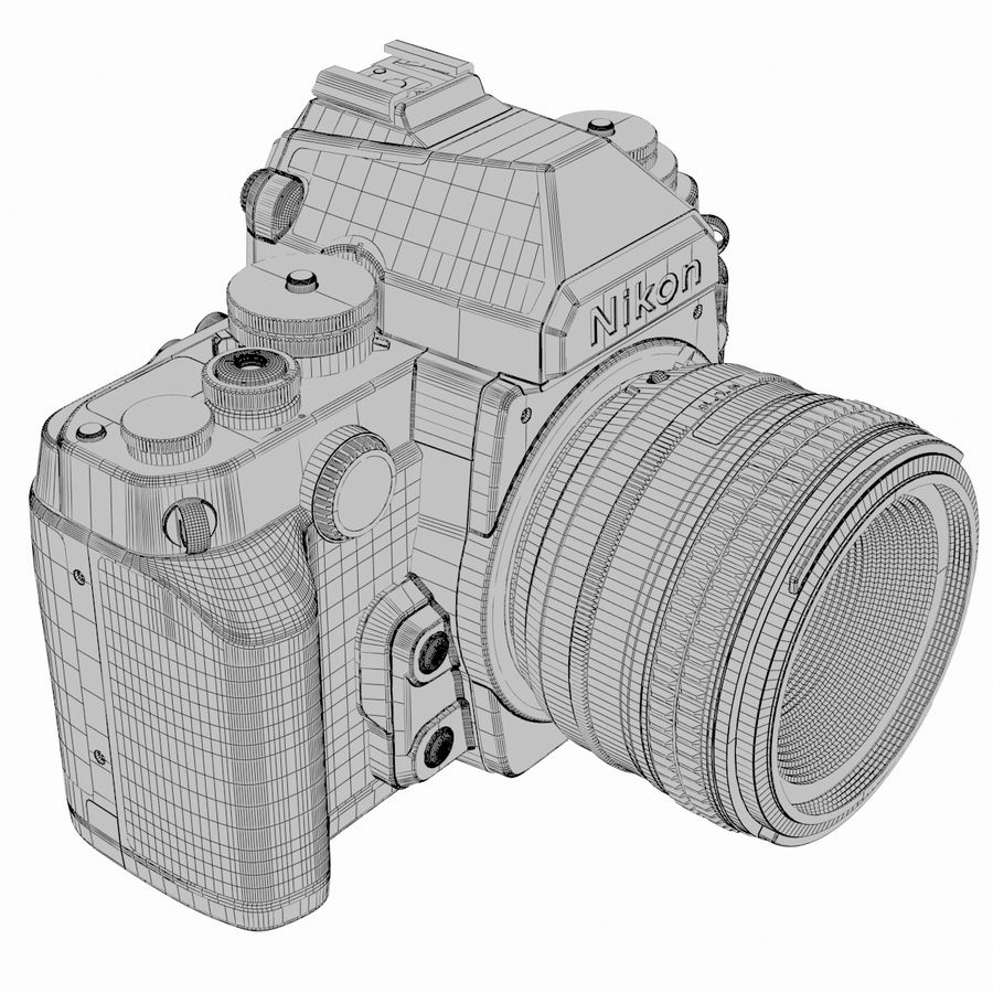 Nikon DF DSLR royalty-free 3d model - Preview no. 17