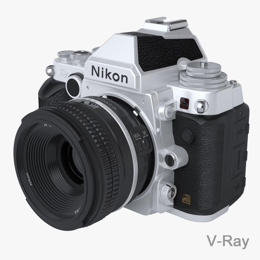 Nikon DF DSLR royalty-free 3d model - Preview no. 10