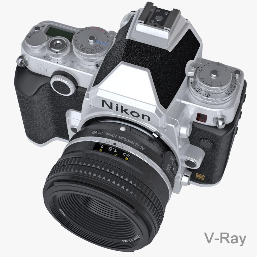 Nikon DF DSLR royalty-free 3d model - Preview no. 9