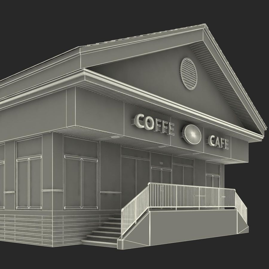 Kafé royalty-free 3d model - Preview no. 33