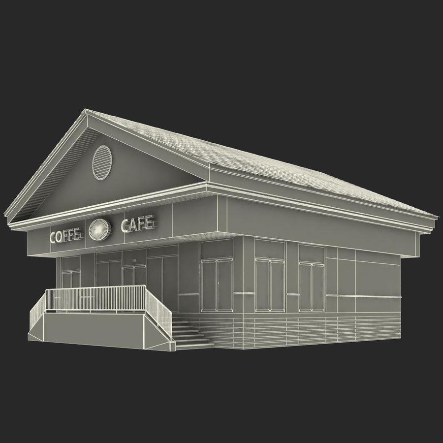 Kafé royalty-free 3d model - Preview no. 25