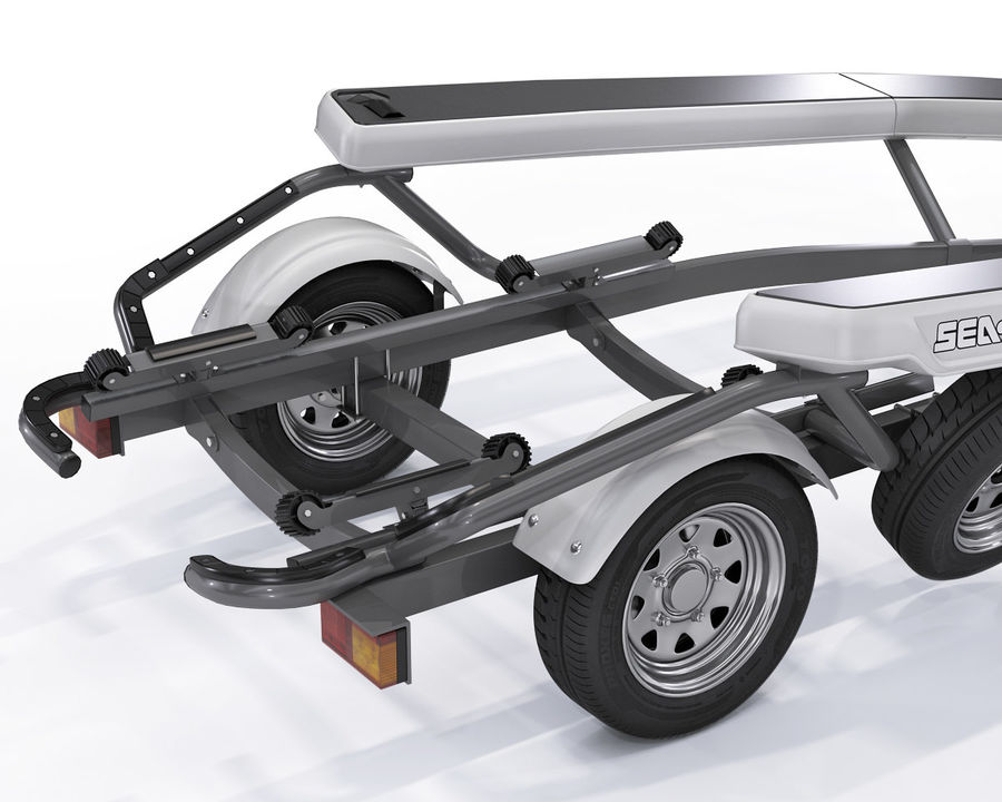 Sea-Doo GTI 215 and trailer royalty-free 3d model - Preview no. 12