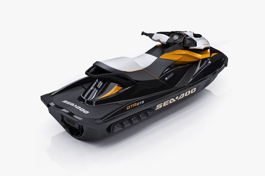 Sea-Doo GTI 215 and trailer royalty-free 3d model - Preview no. 26
