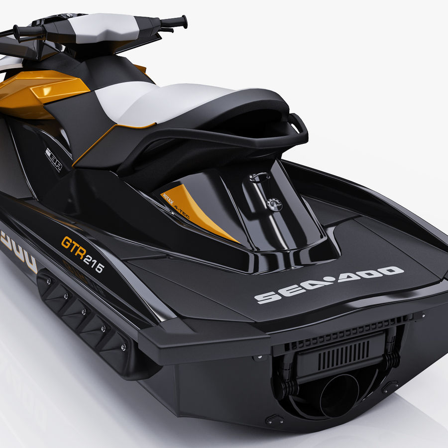 Sea-Doo GTI 215 and trailer royalty-free 3d model - Preview no. 30