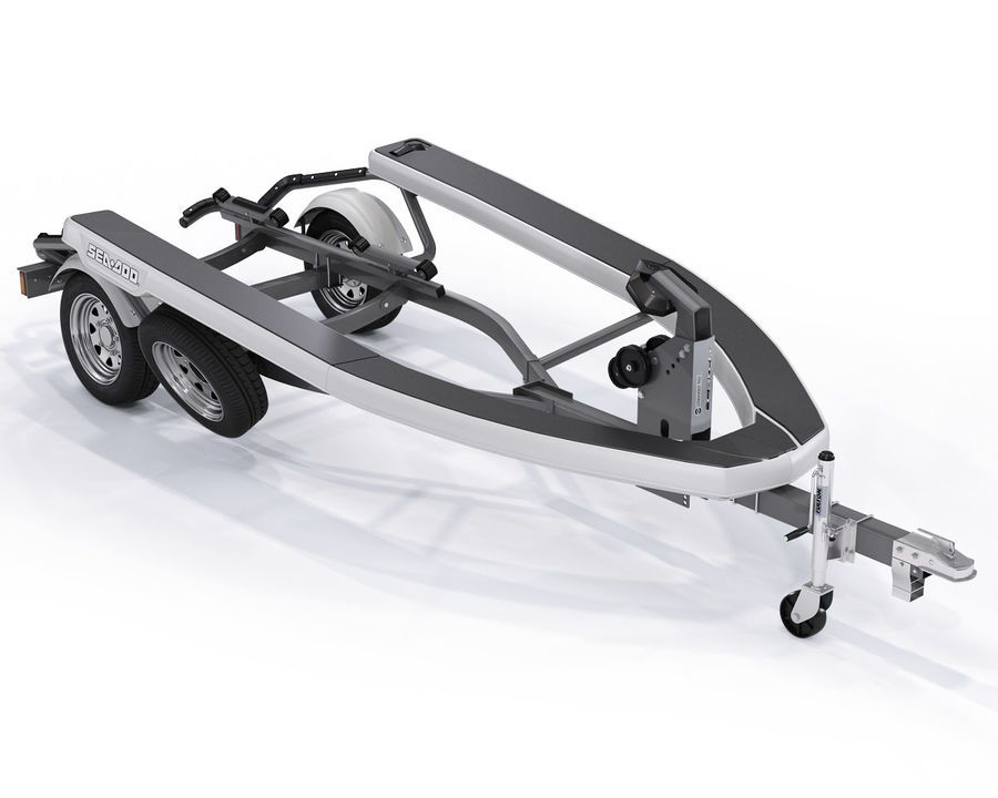 Sea-Doo GTI 215 and trailer royalty-free 3d model - Preview no. 7
