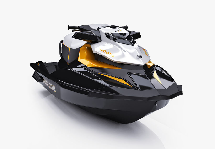 Sea-Doo GTI 215 and trailer royalty-free 3d model - Preview no. 25